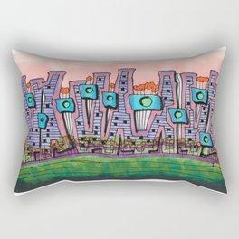 Waterfront Apartments Architectural Illustration 57 Rectangular Pillow