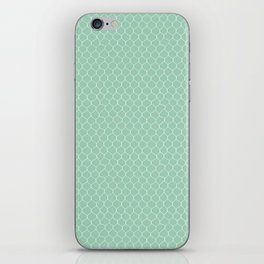 Chicken Wire Mint iPhone Skin