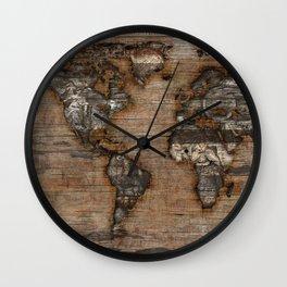 Reclaimed Map 2 Wall Clock