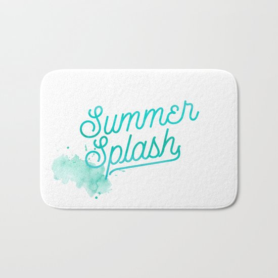 Summer splash- Typography - Holiday Beach Maritime Fun Water Bath Mat