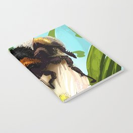 Bee on flower 5 Notebook