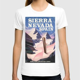 Sierra Nevada Spain ski poster. T-shirt