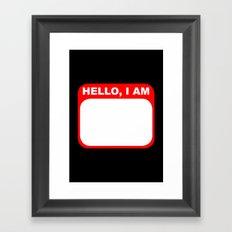 Hello, I am Framed Art Print