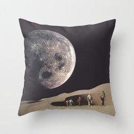 Space Dunes Throw Pillow