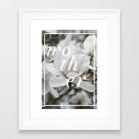mother Framed Art Prints featuring Mother by .eg.