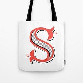 S Drop Cap Tote Bag