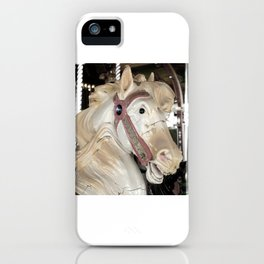 Retired Carousel Horse photography iPhone Case