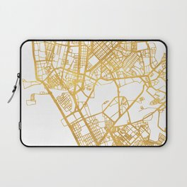MANILA PHILIPPINES CITY STREET MAP ART Laptop Sleeve
