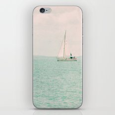white ship iPhone & iPod Skin