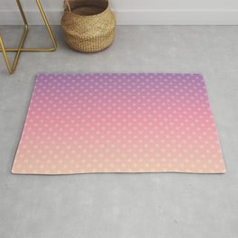 Lilac pink yellow Ombre . Rug