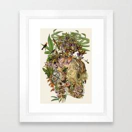 """vanitas"" anatomical collage art by bedelgeuse Framed Art Print"