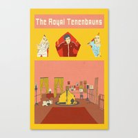royal tenenbaums Canvas Prints featuring The Royal Tenenbaums by Guiltycubicle