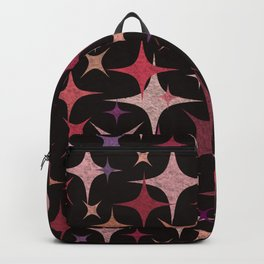 Shimmering Purple, Red, Pink and White Stars Backpack