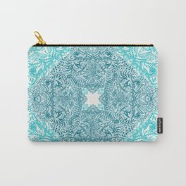 Teal Tangle Square Carry-All Pouch