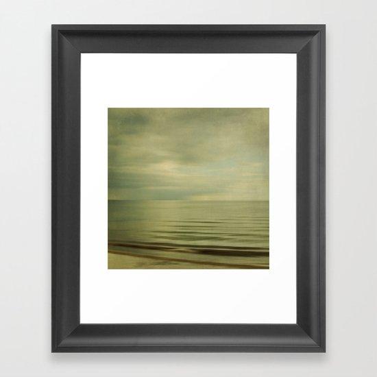 sea square XI Framed Art Print