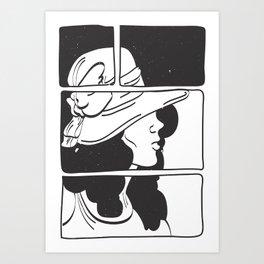Lady in Black 2° Art Print