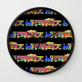 Circus Train / boy (blue) Wall Clock