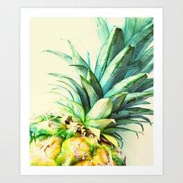 Green Pineapple Art Print