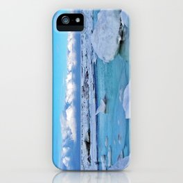 Frozen, and clouds on the Horizon iPhone Case