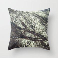 Snowy Mountains Throw Pillow