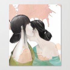 tell me a secret Canvas Print