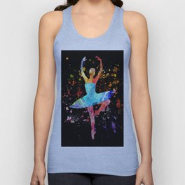 Ballerina Blacky Black Unisex Tank Top