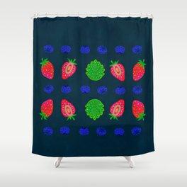 Strawberry magic 2 Shower Curtain
