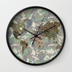 CAMO WORLD ATLAS MAP (camo) Wall Clock