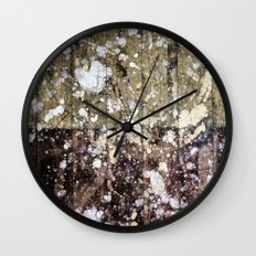 Rough Yin/Yang Planks Wall Clock