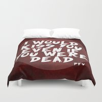 dead Duvet Covers featuring Dead by Samantha Whitford