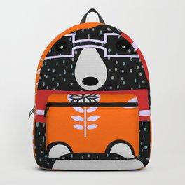 Bear in floral rain Backpack