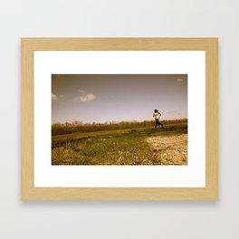Run.  Framed Art Print