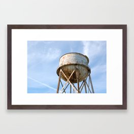 Water Tower At Alcatraz Framed Art Print