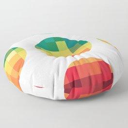 Pixelated Circles Quilt Floor Pillow