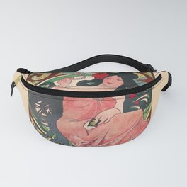 Alphonse Mucha Job Rolling Papers Art Nouveau Woman Fanny Pack
