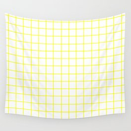 Grid (Yellow/White) Wall Tapestry