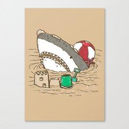 Sandy Beach Shark Canvas Print