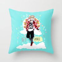 shinee Throw Pillows featuring SHINEE KEY by Haneul Home