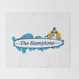The Hamptons - Long Island. Throw Blanket