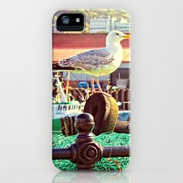 Busy Harbour iPhone Case