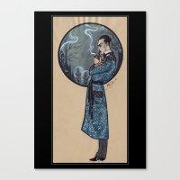 sherlock holmes Canvas Prints featuring Sherlock Holmes by Fyodor Pavlov