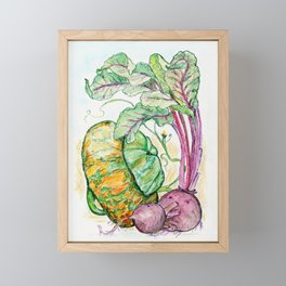 Red Beets and Squash Framed Mini Art Print