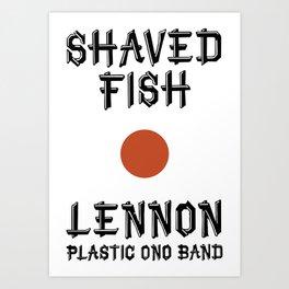 Shaved fish Art Print