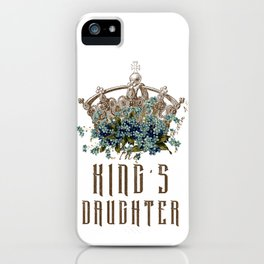The King's Daughter Psalm 45 Floral Crown iPhone Case