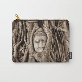 Buddha head in a Banyan Tree in Ayutthaya, Thailand Carry-All Pouch