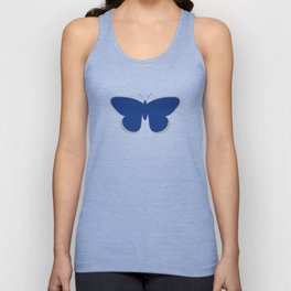 Butterfly Single in Blue and Stone Unisex Tank Top