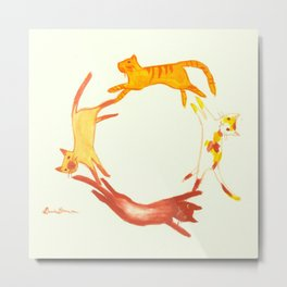 A Circle of Cats Metal Print