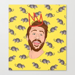 Charlie Day, King of the Rats Canvas Print