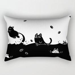 Coffee Cats Rectangular Pillow