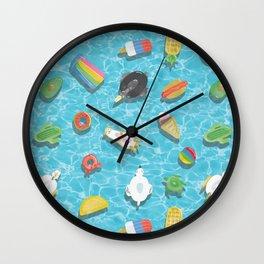 Pool floaties Wall Clock